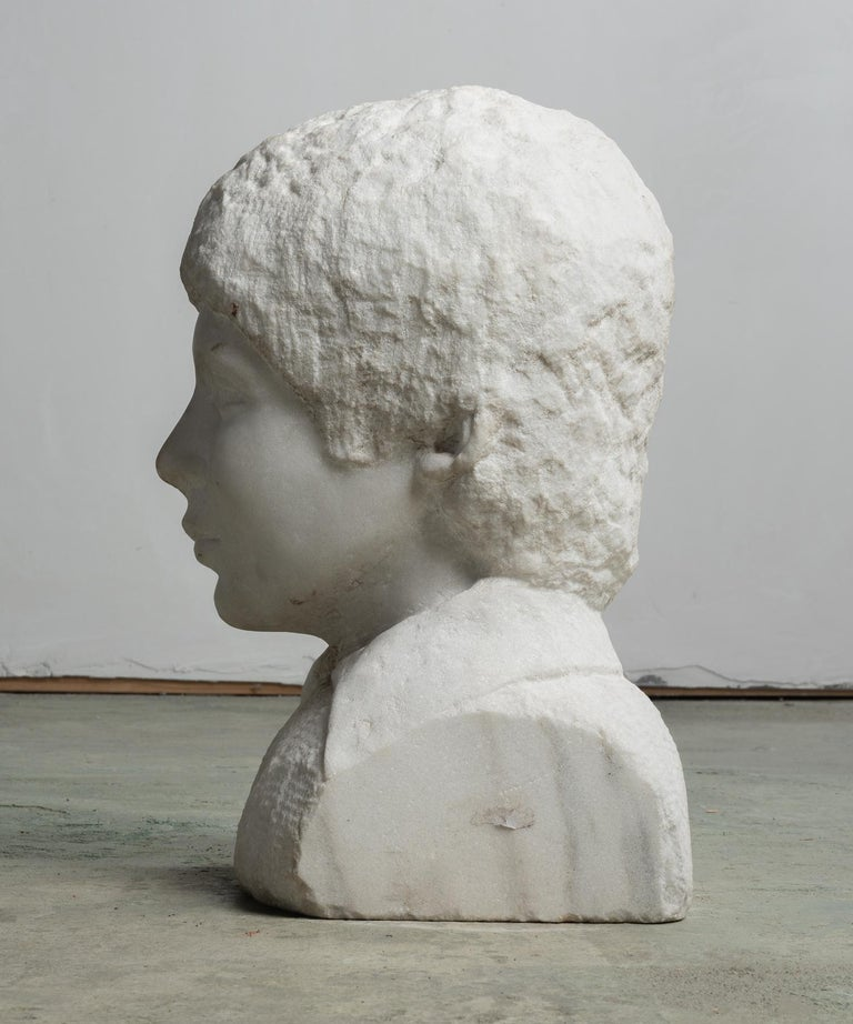 Unfinished Marble Bust, circa 19th Century For Sale 1
