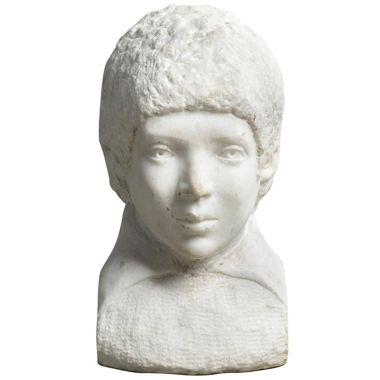 Unfinished Marble Bust, circa 19th Century For Sale