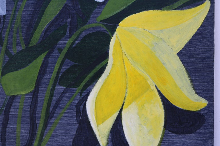 Unframed Oil Painting of Flowers by David Segel In Excellent Condition For Sale In Pasadena, CA