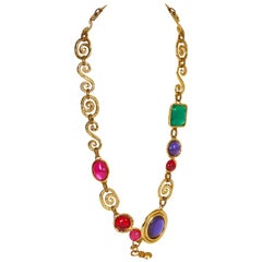 Ungaro 80s Vintage Multicolor Necklace Belt