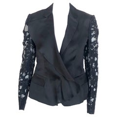 UNGARO Blazer with lace sleeves