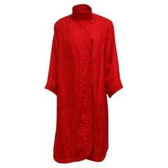 Ungaro Red Brocade Coat