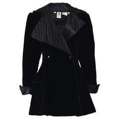 Ungaro Vintage 1980s Black Velvet Jacket