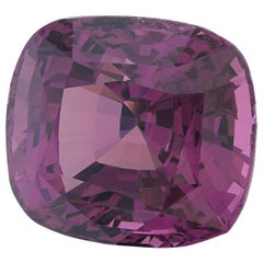 Unheated 10.21 Carat Cushion Natural Pink Purple Spinel, GIA Certified
