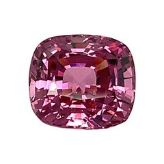 Unheated 10.21 Ct. Pink Purple Spinel, GIA, Unset Necklace Enhancer Gemstone