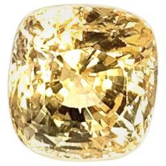 Unheated 10.78 ct. Ceylon Yellow Sapphire, GIA, Unset Pendant, Enhancer Gemstone