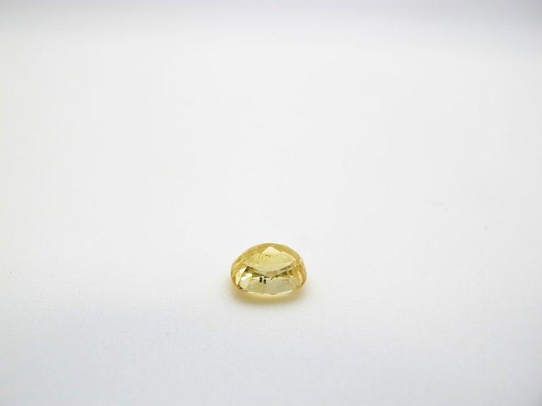 Artisan Unheated 2.49 Carat Cushion Yellow Sapphire, GIA Certified For Sale