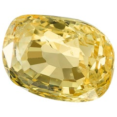 Unheated 2.49 Carat Cushion Yellow Sapphire, GIA Certified