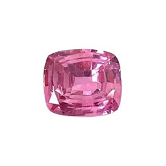 Unheated 2.74 ct. Pink Sapphire, GIA, Unset 3-Stone Engagement Ring Gemstone