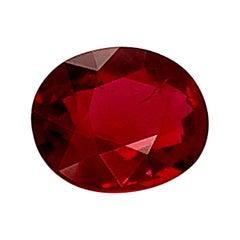 "Unheated 3.05 Carat ""Pigeon's Blood"" Ruby GIA, Unset Loose 3-Stone Ring Gemstone"