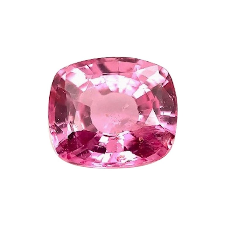 Unheated 3.11 Carat Purple Pink Sapphire, GIA, Unset Loose 3-Stone Ring Gemstone For Sale