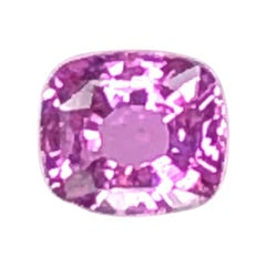 Unheated 3.11 ct. Purple Pink Sapphire, GIA, Unset Loose 3-Stone Ring Gemstone