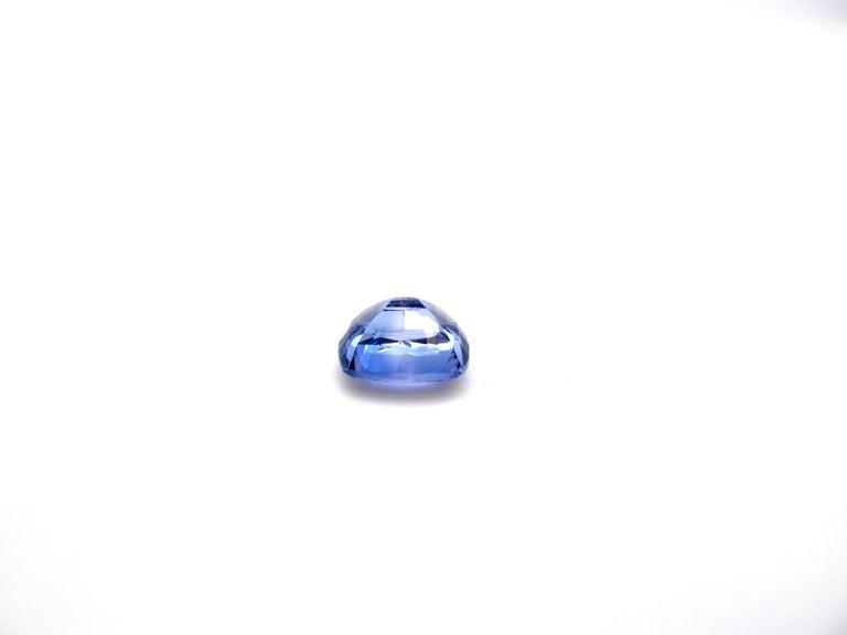 Cushion Cut Unheated 3.42 Carat Cushion Violet-Blue Sapphire, GIA Certified For Sale