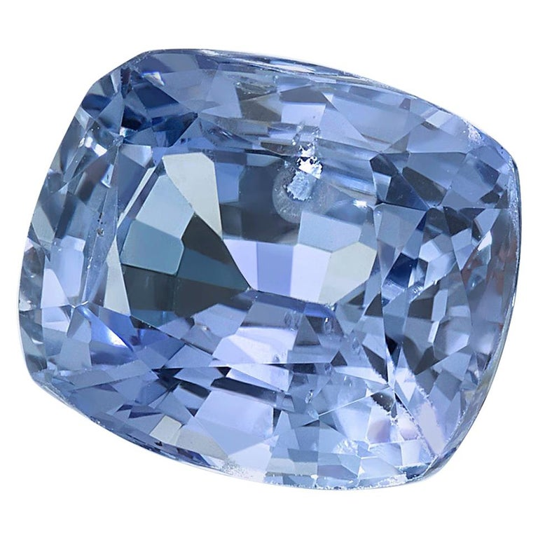Unheated 3.42 Carat Cushion Violet-Blue Sapphire, GIA Certified For Sale