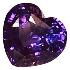 Unheated 3.56 ct. Fancy Purple Sapphire Heart, GIA, Unset Loose Pendant Gemstone