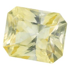 Unheated 4.25 Carat Octagonal Yellow Sapphire, GIA Certified