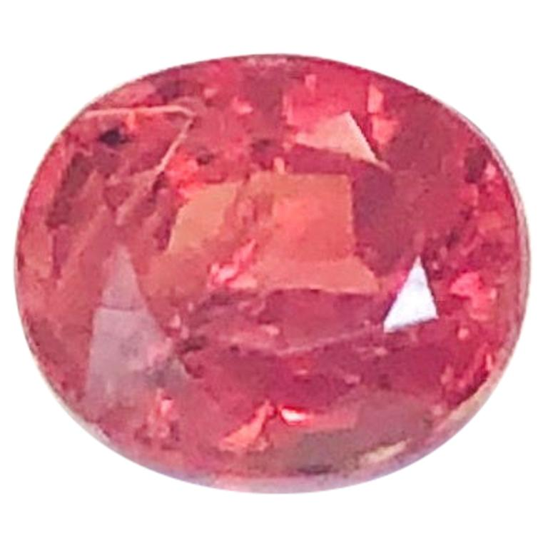 Unheated .75 Carat Padparadscha Sapphire, GIA, Unset Loose 3-Stone Ring Gemstone