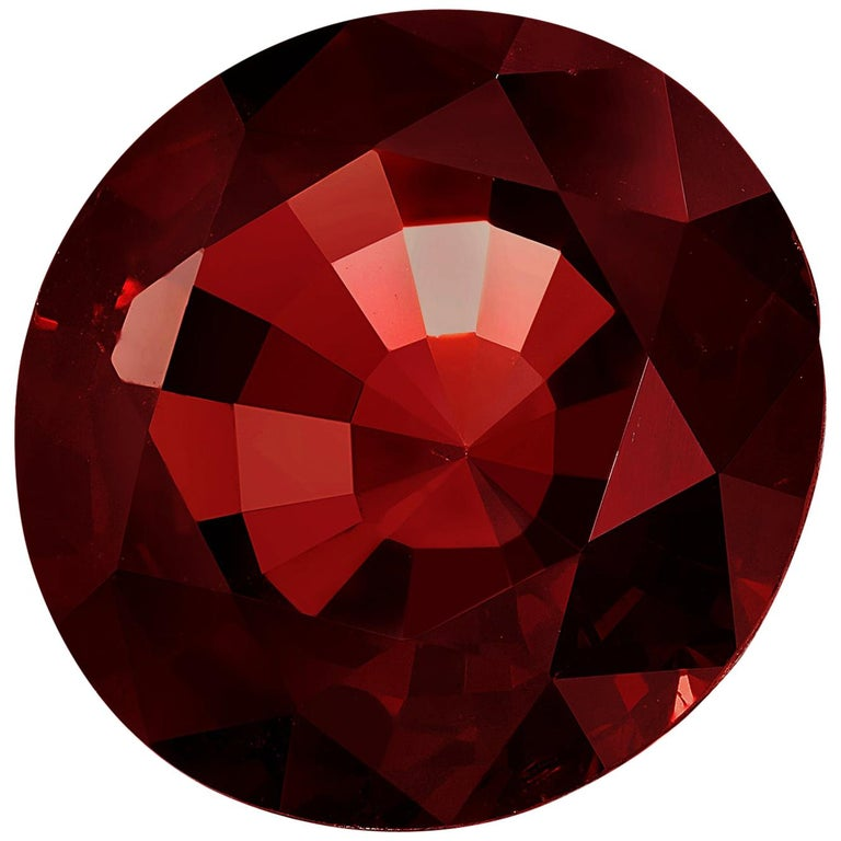 Unheated 7.84 Carat Round Red Spinel, GIA Certified For Sale