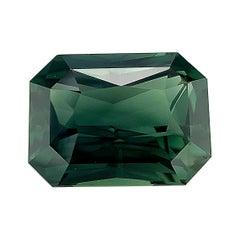 Unheated 8.63 Ct Blue Green Sapphire, GIA, Unset 3-Stone Ring, Pendant Gemstone