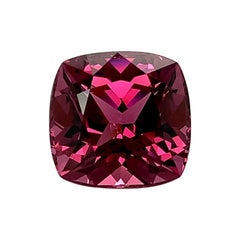 Unheated 9.26 Ct. Purple Pink Spinel Cushion, GIA, Unset Ring, Pendant Gemstone