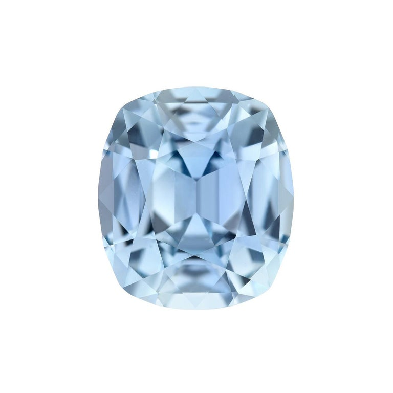 Cushion Cut Unheated Blue Sapphire Burma AGL Certified 4.67 Carat For Sale