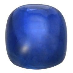 Unheated Burma Sapphire Cabochon Ring Gem 15.77 Carat No Heat