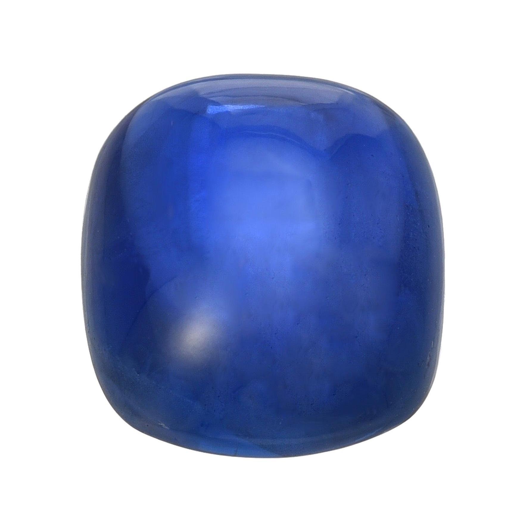 Unheated Burma Sapphire Cabochon Ring Gem 15.77 Carats No Heat Loose Gemstone