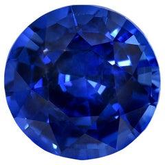 Unheated Burma Sapphire Ring Gem 3.01 Carat Royal Blue No Heat Loose Gemstone