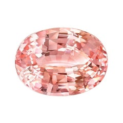 Unheated Ceylon Padparadscha Sapphire Ring Gem 4.14 Carat No Heat Loose Gemstone