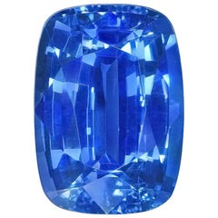 Unheated Ceylon Sapphire 6.50 Carat Cushion No Heat