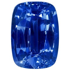 Unheated Ceylon Sapphire Ring Gem 6.50 Carat No Heat Cushion