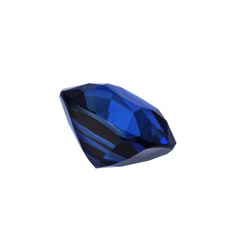 Ceylon-Saphir unbeheizt Kissen GIA zertifiziert 3,04 Karat Royal Blau 2