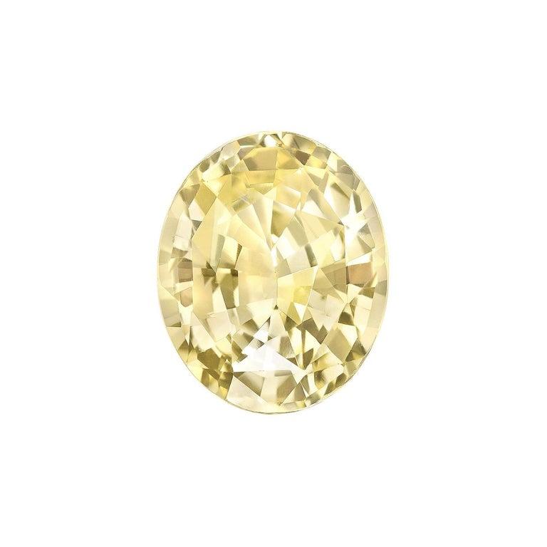 Oval Cut Unheated Ceylon Yellow Sapphire Ring Gem 5.56 Carat No Heat Loose Gemstone For Sale