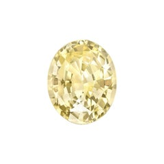 Unheated Ceylon Yellow Sapphire Ring Gem 5.56 Carat AGTA Certified No Heat