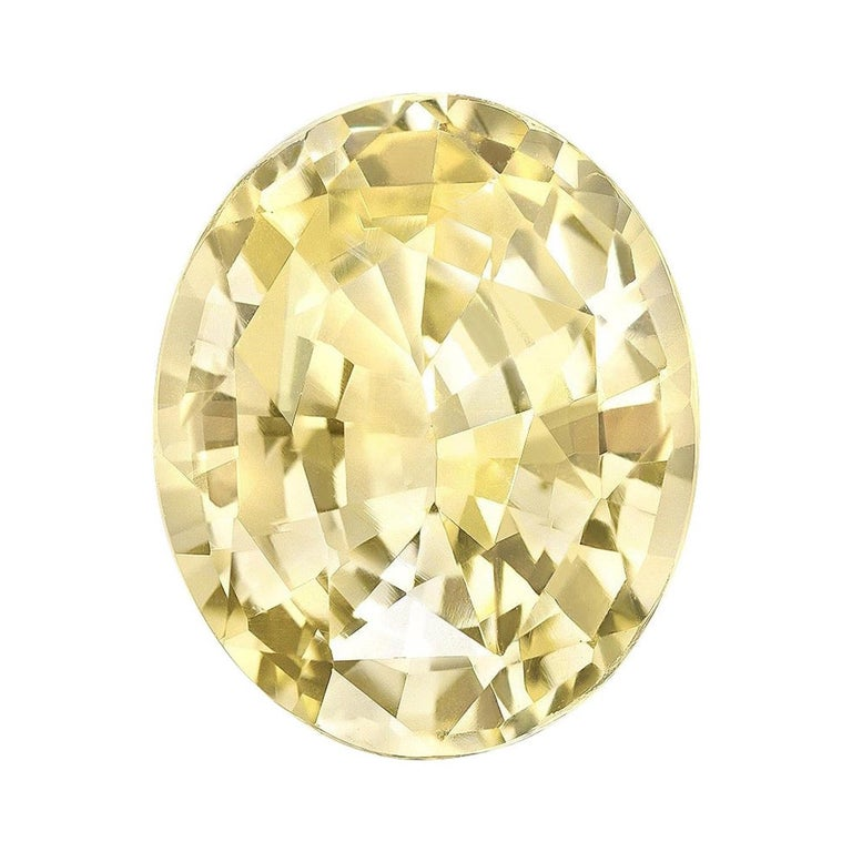 Unheated Ceylon Yellow Sapphire Ring Gem 5.56 Carat No Heat Loose Gemstone For Sale