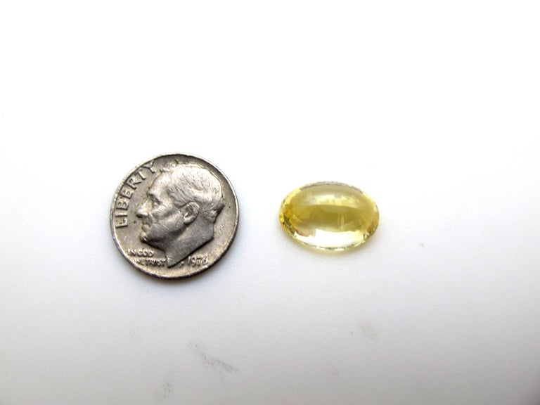 Artisan Unheated GIA Certified 3.98 Carat Oval Yellow Sapphire Loose Stone For Sale