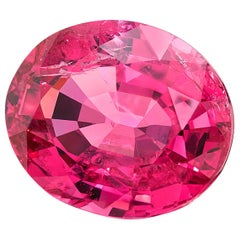 4.71 Carat Oval Pink Spinel Unheated GIA, Loose 3-Stone Engagement / Pendant Gem