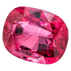 6.83 ct. Pink Spinel Cushion Unheated GIA, Loose 3-Stone Ring, Pendant Gemstone