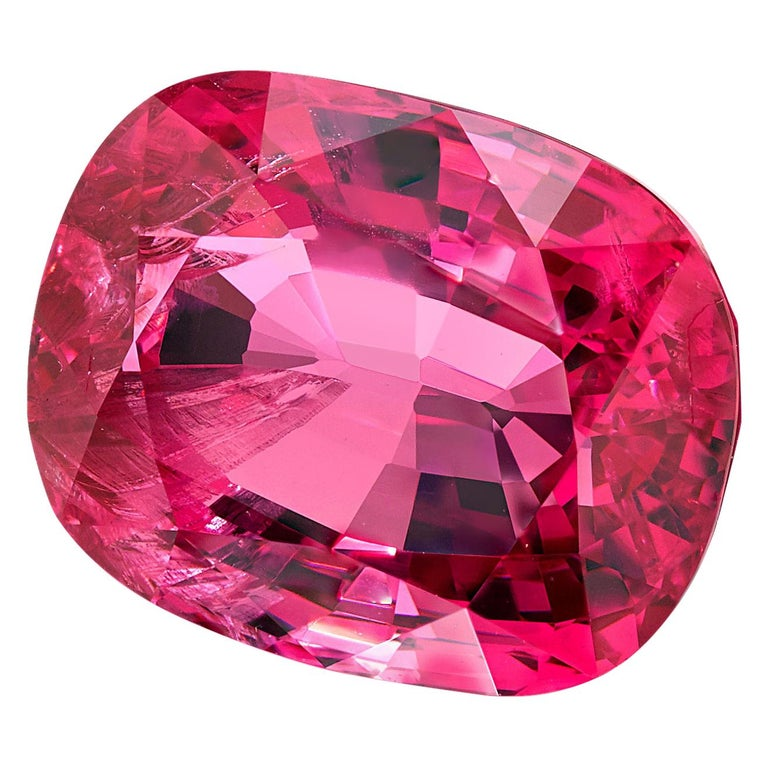 Unheated GIA Certified 6.83 Carat Cushion Pink Spinel Loose Stone For Sale