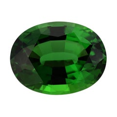 Green Chrome Tourmaline 7.70 Carat GIA Certified