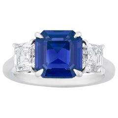 Unheated Kashmir Sapphire Ring, 3.32 Carat