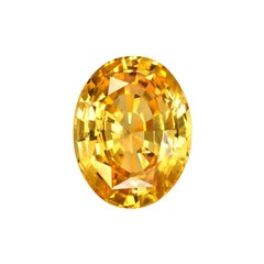 Unheated Orange Sapphire GIA Certified 3.07 Carat Natural