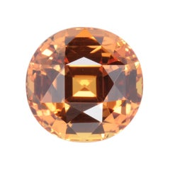 Unheated Orange Sapphire Ring Gem 8.10 Carat GIA No Heat Loose Unset Gemstone