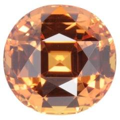 Unheated Orange Sapphire Ring Gem 8.10 Carat GIA No Heat Loose Gemstone