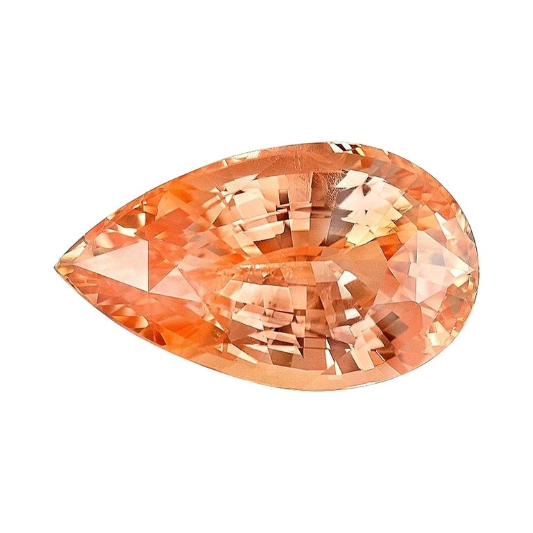 Unheated Padparadscha Sapphire GRS Certified 6.26 Carat Natural For Sale