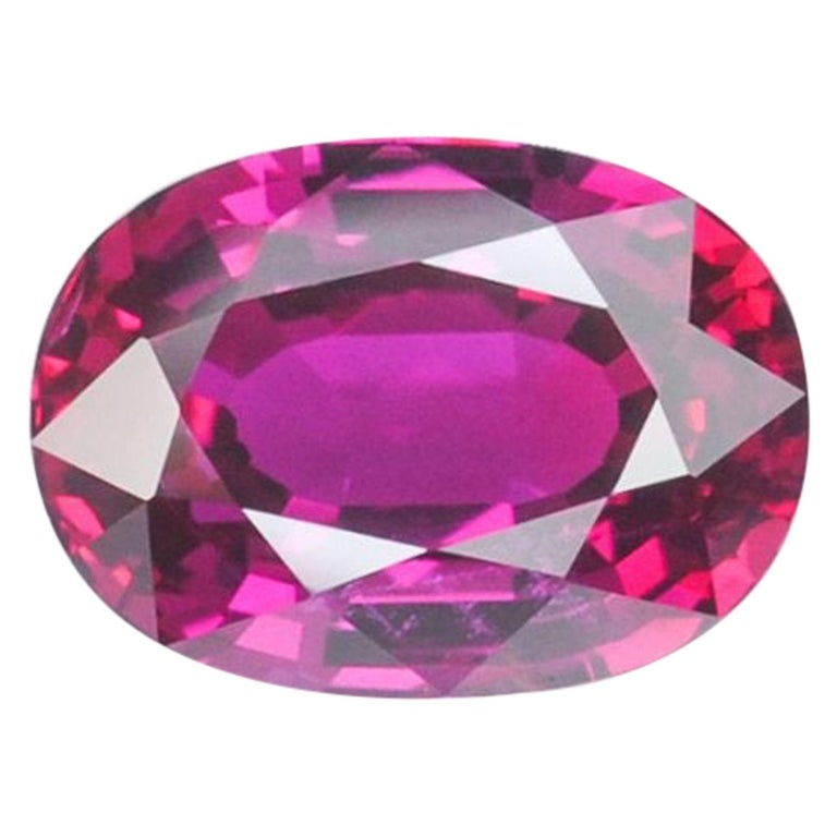 Unheated Ruby Ring Gem 3.04 Carat GRS Certified Vivid Red No Heat For Sale