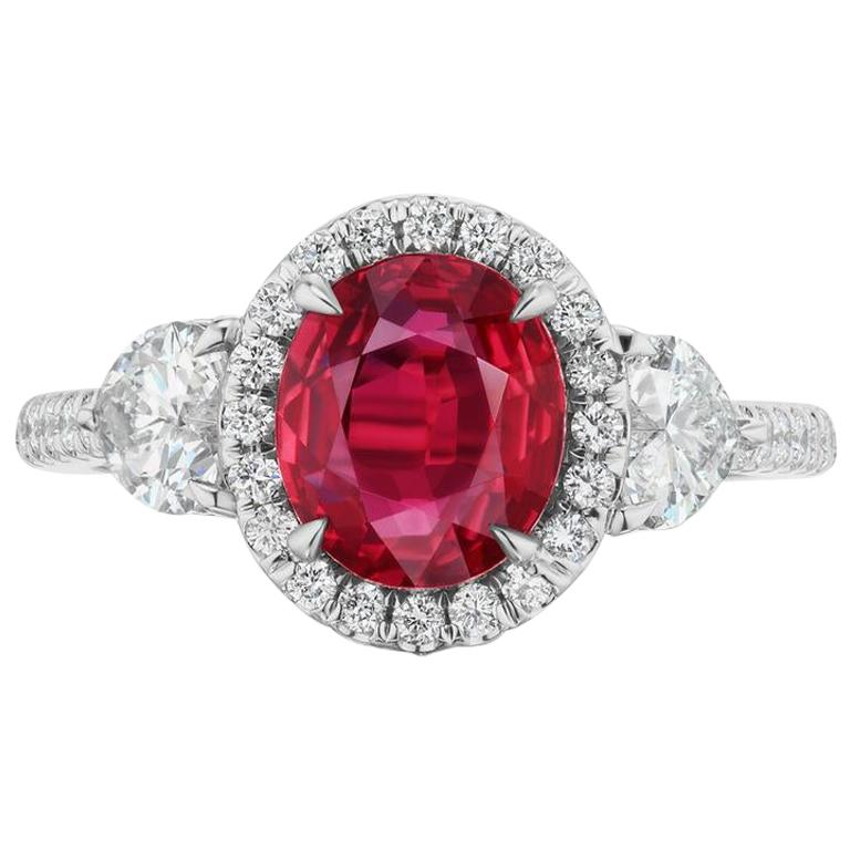 Unheated Ruby And Diamond Ring In 18K Gold By RayazTakat