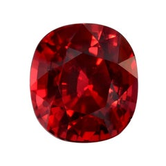 Unheated Ruby Cushion Cut 3.49 Carat GIA Certified Natural