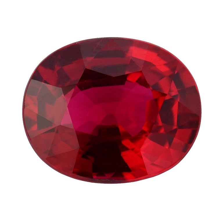 Unheated Ruby 2.09 Carat AGL Certified For Sale