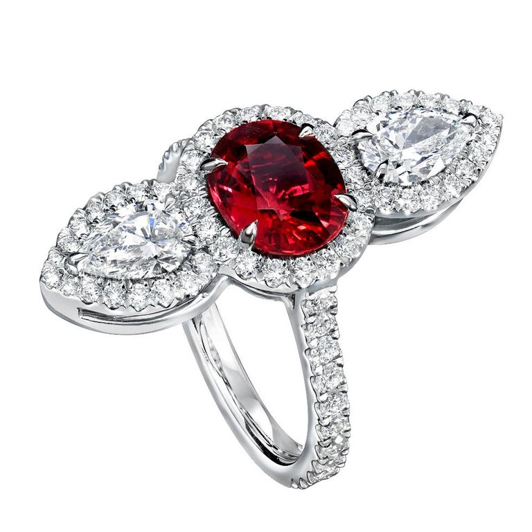 Unheated Ruby Ring 2.09 Carats AGL Certified For Sale